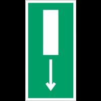 """Mini autocollants d'évacuation """"Issue de secours, flèche directionnelle en bas ou en haut"""""""
