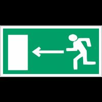 """Mini autocollants d'évacuation """"Homme qui court, flèche à gauche"""""""