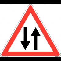 """Panneau de circulation en PVC """"Circulation dans les deux sens"""""""