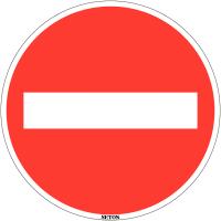 "Panneau de circulation en PVC ""Sens interdit"""""