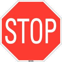 Panneau de circulation en PVC - Stop