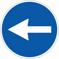"""Panneau de circulation en PVC """"Flèche directionnelle orientable"""""""