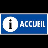 Panneau de signalisation en PVC - Accueil
