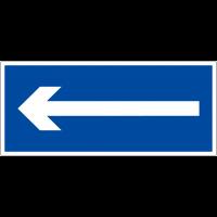 """Panneau de signalisation en PVC """"Flèche directionnelle 90°"""""""
