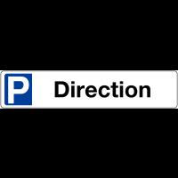 """Panneau type plaque d'immatriculation """"Places de parking - Direction"""""""