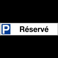 """Panneau type plaque d'immatriculation """"Places de parking - Réservé"""""""