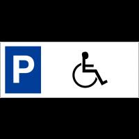 """Panneau sur support double """"Places de parking - Handicapés"""""""