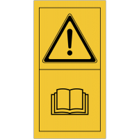 """Signalisation de sécurité pour engins agricoles """"Danger - Consultez le manuel d'instructions"""""""