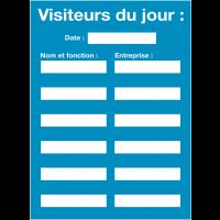 Affichage obligatoire à insert pour les visiteurs du jour