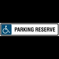 """Panneau de parking avec poteau """"Handicapés - Ascenseur"""""""