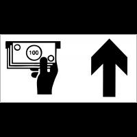 Panneau d'information Distributeur automatique de billets - Flèche directionnelle
