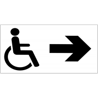 Panneau d'information Handicapés - Flèche directionnelle