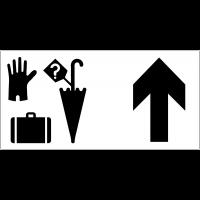 Panneau d'information Objets trouvés - Flèche directionnelle