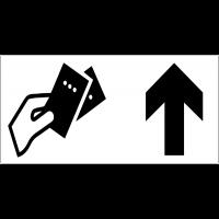 Panneau d'information Vente de billets - Flèche directionnelle