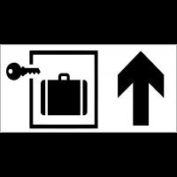 Panneau d'information Consignes fermées - Flèche directionnelle