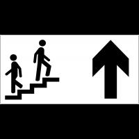 Panneau d'information Escalier - Flèche directionnelle