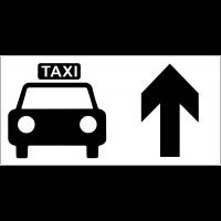Panneau d'information Taxi - Flèche directionnelle