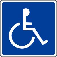 """Panneau mural """"Handicapés"""""""