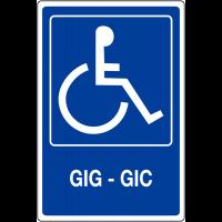 """Panneau mural """"Handicapés - GIG - GIC"""""""