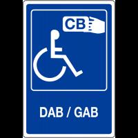 """Panneau mural """"Distributeur automatique accessible handicapés - DAB/GAB"""""""