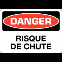 """Signalisation d'avertissement """"Danger - Risque de chute"""""""