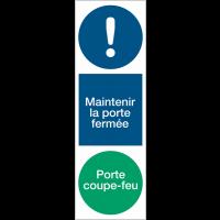 Panneau PVC adhésif vertical - Maintenir la porte fermée Porte coupe-feu