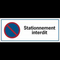 Panneau routier de dissuasion - Stationnement interdit