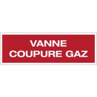 Panneau PVC adhésif - Vanne coupure gaz