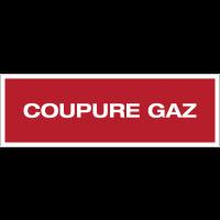 Panneau PVC adhésif - Coupure gaz