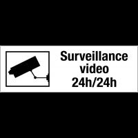 Panneau PVC adhésif - Surveillance vidéo 24h/24h