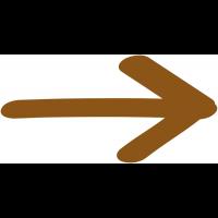 """Plaque de porte en bois symbole """"Flèche directionnelle 90°"""""""
