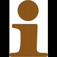 """Plaque de porte en bois symbole """"Point information"""""""