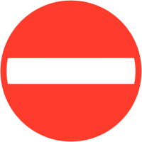 "Panneau de signalisation temporaire en aluminium ""Sens interdit"""