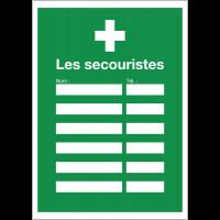 """Affichage obligatoire """"Premiers secours - Les secouristes"""""""