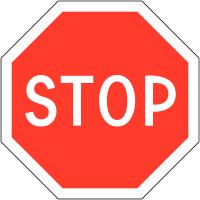 """Marquage au sol permanent """"Stop"""""""