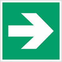 """Panneau d'évacuation en polycarbonate """"Flèche directionnelle 90°"""""""
