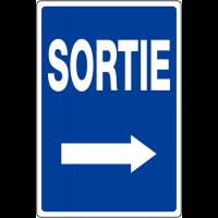 """Panneau de parking temporaire """"Flèche à droite - Sortie"""""""