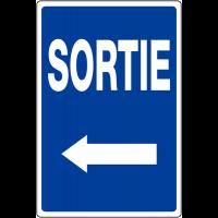 """Panneau de parking temporaire """"Flèche à gauche - Sortie"""""""