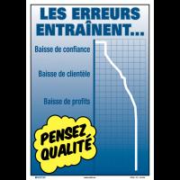 Poster de Qualité A3 - Les erreurs entraînent…
