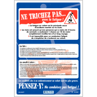 Affiche sur les dangers de la fatigue au volant