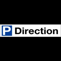 """Panneau en Alucobond® """"Place de parking - Direction"""""""