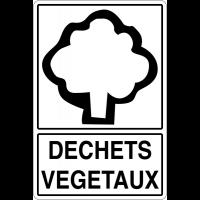 """Panneau déchets spéciaux  """"Tri sélectif des déchets - Déchets végétaux"""""""