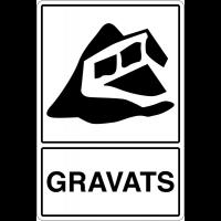 """Panneau déchets spéciaux  """"Tri sélectif des déchets - Gravats"""""""