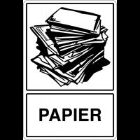 """Panneau déchets spéciaux  """"Tri sélectif des déchets - Papiers"""""""