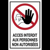 Panneau d'interdiction grand format - Accès interdit aux personnes non autorisées