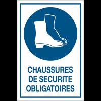 Panneau d'obligation grand format - Chaussures de sécurité obligatoire