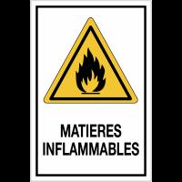 Panneau de danger grand format - Matières inflammables