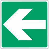 """Panneau d'évacuation en aluminium """"Flèche directionnelle 90°"""""""
