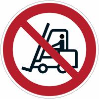 """Panneau d'interdiction en aluminium """"Interdit aux chariots élévateurs à fourche """""""