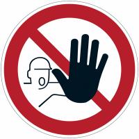 """Panneau d'interdiction en aluminium """"Accès interdit aux personnes non autorisées"""""""